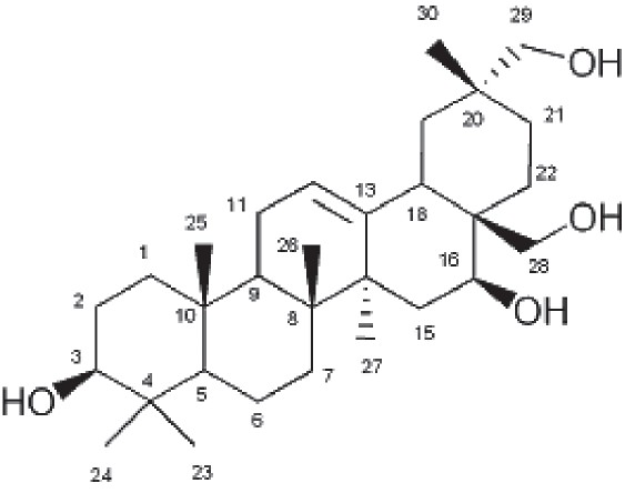 Figure 3: Structure of Gymnemagenol